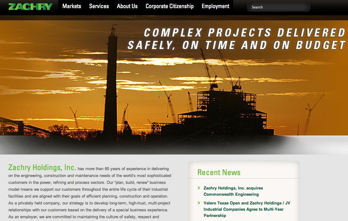 Zachry holdings website