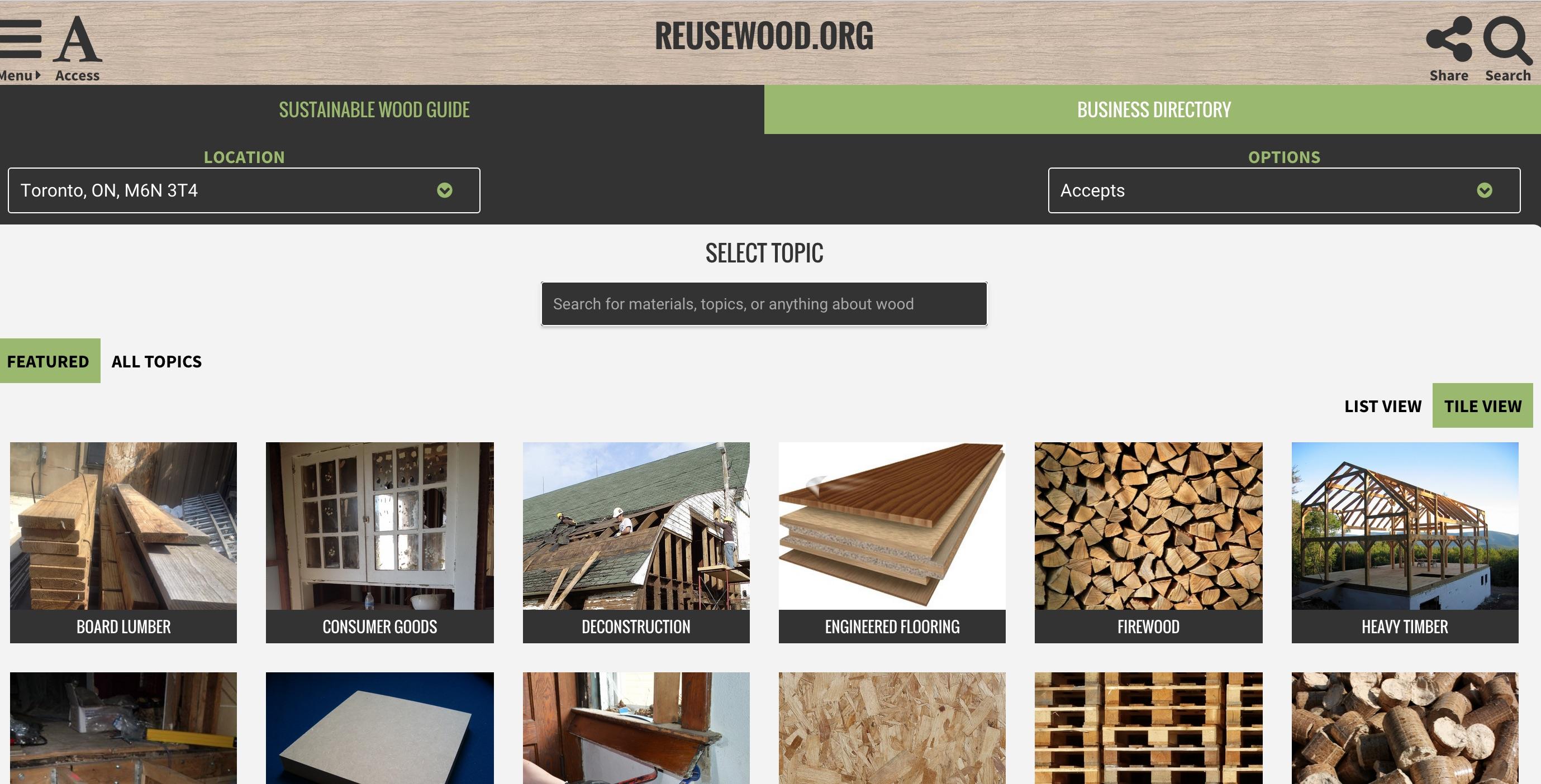 reuse wood