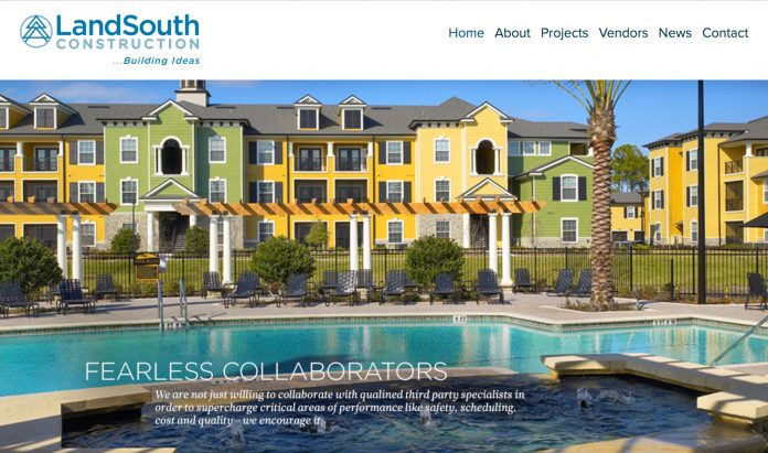 landsouth construction website
