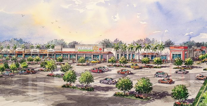 Rendering of Konover South's new Landstar Marketplace in Orlando, to be anchored by Walmart Neighborhood Market