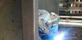 Welding steel plate
