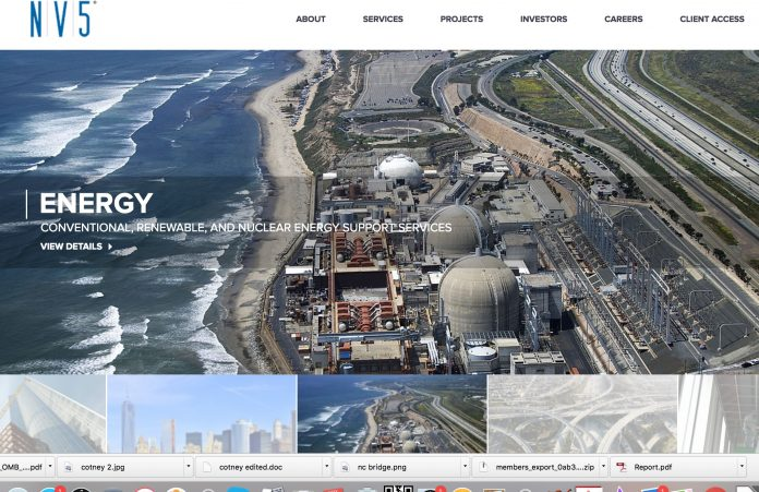 NV5 webpage