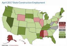 AGCA April employment map