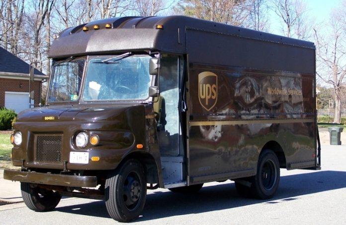 A UPS truck