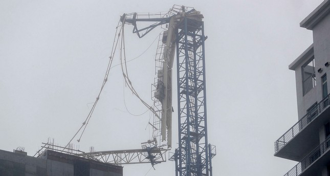 Hurricane irma crane