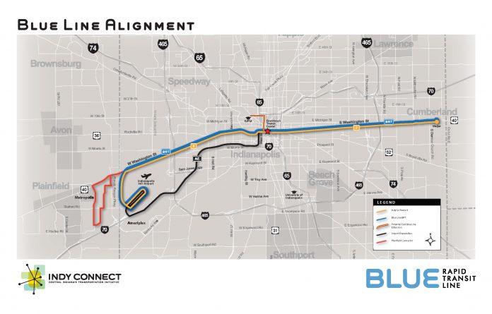 Indy go blue line