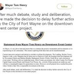 fort wane mayor's tweet