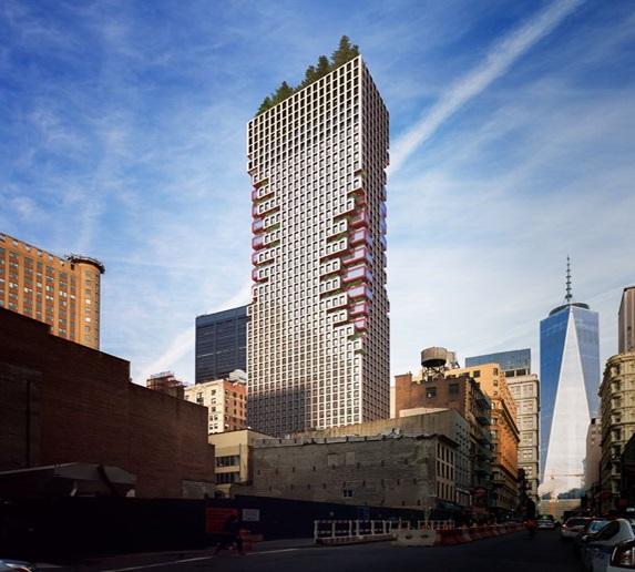40-story tower at 75 Nassau St.