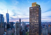 Rendering for 130 William tower (Lightstone Group)