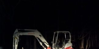 stolen excavator